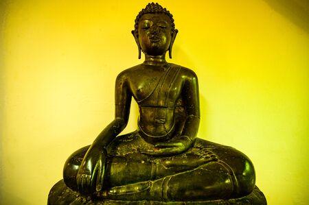 Ancient Buddha in Chiang Saen District, Chiang Rai province. Stock Photo