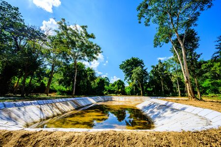 Water Storage Pond in in Tham Phatai National Park, Lampang Province.