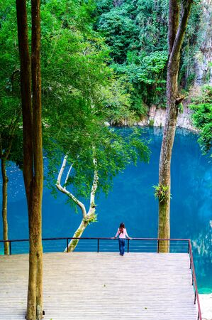 Lom Phu Khew or Blue Lake in Tham Phatai National Park, Lampang Province. Stock fotó