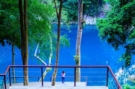 Lom Phu Khew or Blue Lake in Tham Phatai National Park, Lampang Province.
