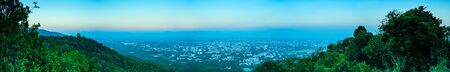 Panorama View of Chiang Mai Cityscape, Thailand.