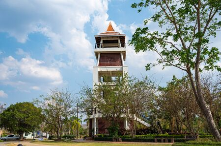 Observatory tower in Mae Moh district, Lampang province.