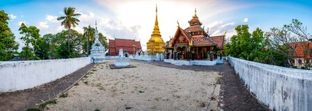 Panorama view of Pong Sanuk temple in Lampang province, Thailand.