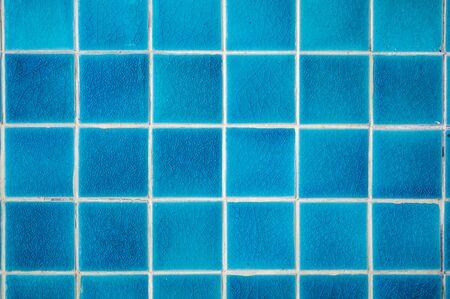 Background of blue ceramic tile, Thailand. Zdjęcie Seryjne