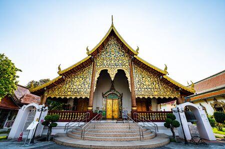 Beautiful Church in Wat Chiang Mun, Chiang Mai Province.