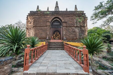 Ancient pagoda in Chet Yod temple, Chiang Mai province.