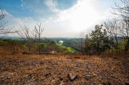 Country view at Mae Ngat Somboon Chon dam, Chiang Mai province. Standard-Bild