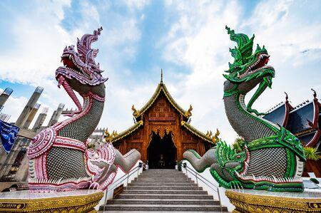 Wat Den Salee Sri Muang Gan or Ban Den temple, Chiang Mai province. Stock Photo
