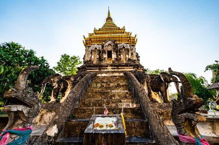 Wat Chiang Mun or Chiang Mun Temple in Chiang Mai Province, Thailand. Stock Photo