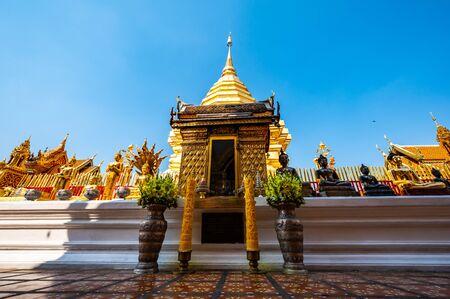 Wat Phra That Doi Suthep or Phra That Doi Suthep temple in Chiang Mai province, Thailand. Stock Photo