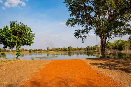 Natural lake at Sa Kaeo province, Thailand. Stock Photo