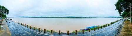 Panorama View of Mekong River in Chiang Saen District, Chiang Rai Province.