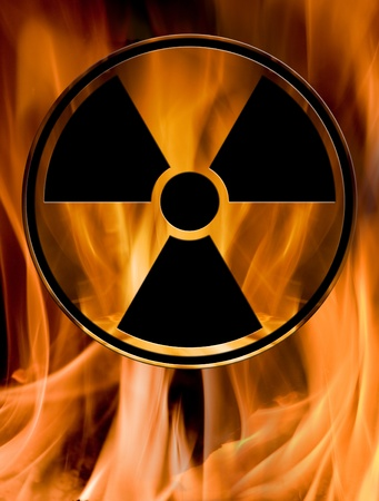 sign of chemical hazard burn in fire Stock Photo - 9163132