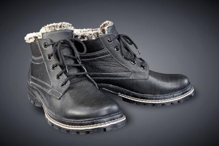men s boot: black leather men s boots