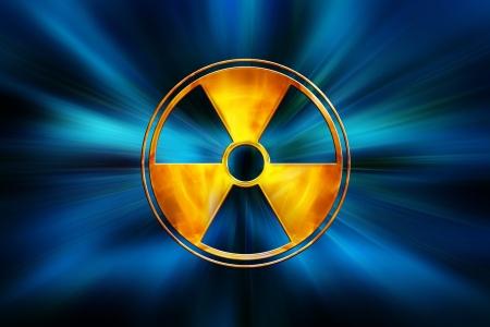 riesgo quimico: signo de peligro químico en abstracto fondo azul oscuro
