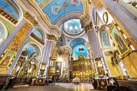 lviv: interior of church of transfiguration in lviv ukraine Editorial