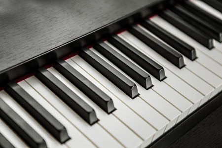 fragment of piano keyboard 写真素材