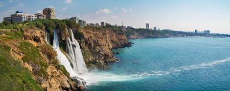 waterfall in the city: Duden waterfall in Antalya Turkey