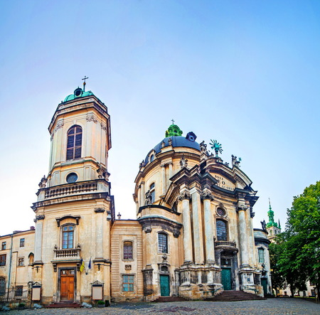 Dominican cathedral in Lviv Ukraine Stock Photo