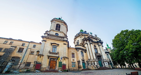 Dominican cathedral in Lviv Ukraine Editorial
