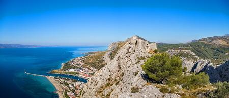 panorama of Starigrad fortress in Omis Croatia