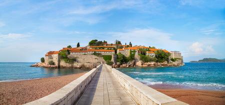View of St. Stefan island in Montenegro