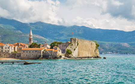 Budva old town in Montenegro in the summer Stock Photo