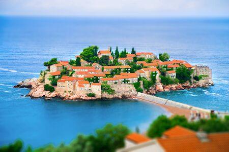 saint Stefan island on the Adriatic sea in Montenegro