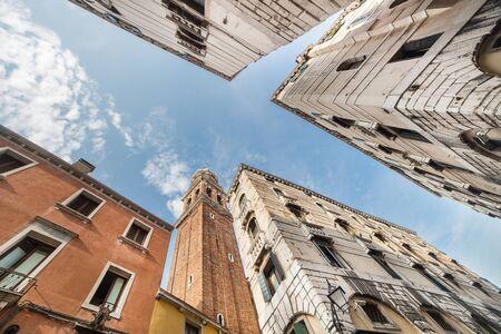 blue sky between buildings in Venice  Italy Standard-Bild