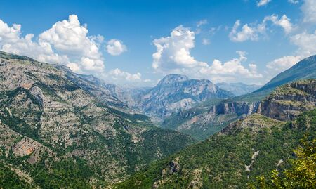 panorama of mountains Prokletije in Albania in summer Standard-Bild