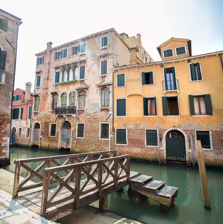 water channel and buildings in Venice in Italy