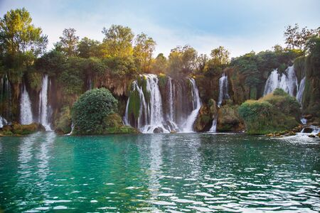 Kravice waterfall in Bosnia and Herzegovina in summer