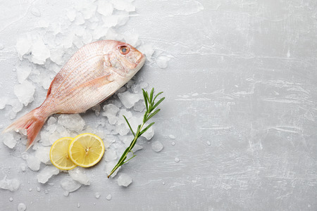 Red Japanese seabream cooking