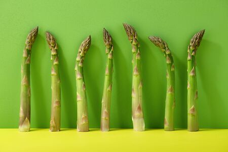 Fresh Green Asparagus On Color Background Gourmet Food Stock Photo Picture And Royalty Free Image Image 147357661