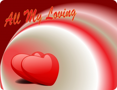 Valentine Love Card - All My Loving Vector