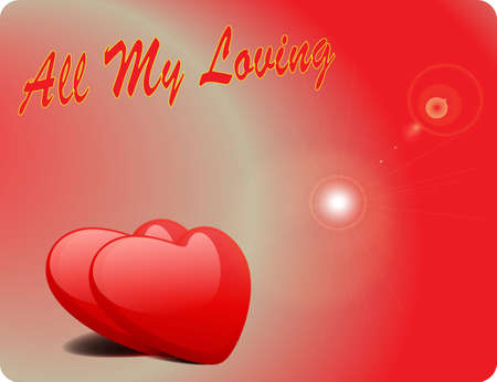 Valentine Love Card - All My Loving II