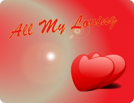 Valentine Love Card - All My Loving III Illustration