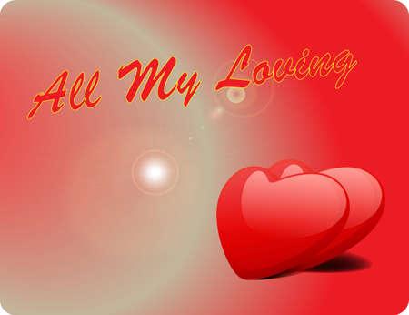 Valentine Love Card - All My Loving III Stock Vector - 17005326