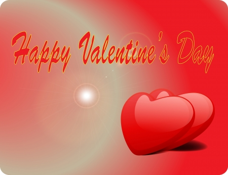 Valentine Love Card - Happy Valentine Day Vector
