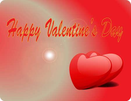 Valentine Love Card - Happy Valentine Day Stock Vector - 17005329