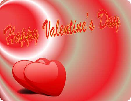 Valentine Love Card - Happy Valentine Day II Stock Vector - 17005332