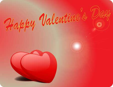 Valentine Love Card - Happy Valentine Day III Stock Vector - 17005334