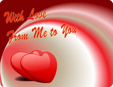 Valentine Love Card - With Love From Me To You Vector