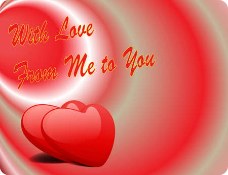 Valentine Love Card - With Love From Me To You II Vector