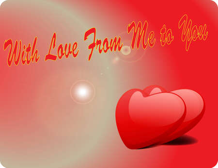 Valentine Love Card - With Love From Me To You III Vector