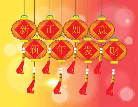 geniality: xin zheng ru yi xin nain fa cai - Chinese Auspicious Word
