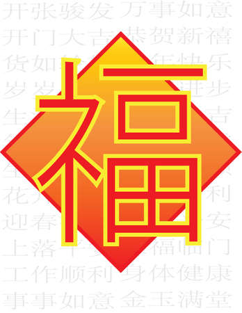 baptize: All Happiness Halo Fortune - Chinese Auspicious Word