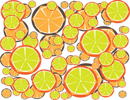 Multicolor Lemon Juice for Diet with Your Fitness Style Illustration