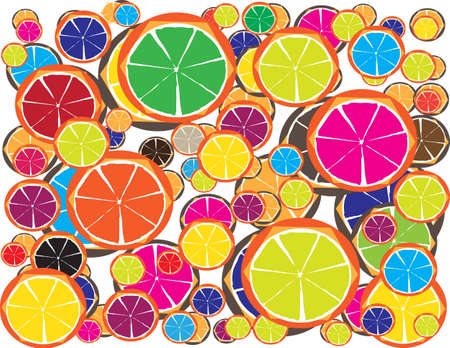 Colorful Lemon Juice for Diet with Your Fitness Style II Illustration