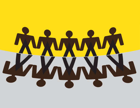 conjoin: Joins hand Together in Union for Our Success Illustration